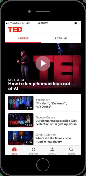 TedTalks — First Screen