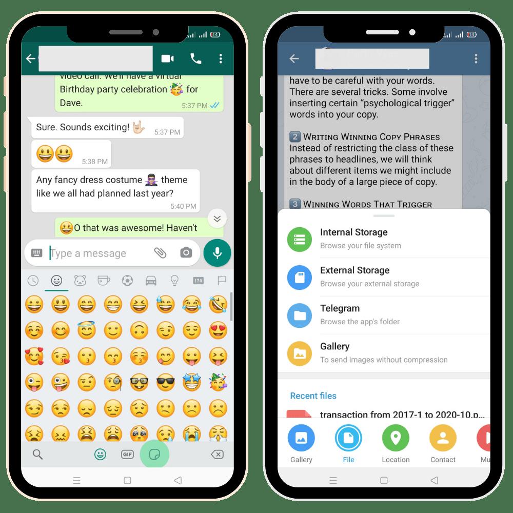 Messaging Apps - Whatsapp and Telegram