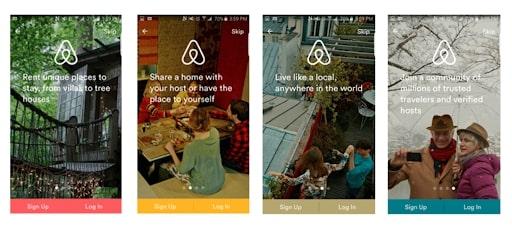 Airbnb Onboarding Screens