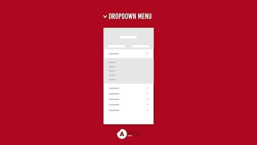 Mobile Navigation - Dropdown Menu