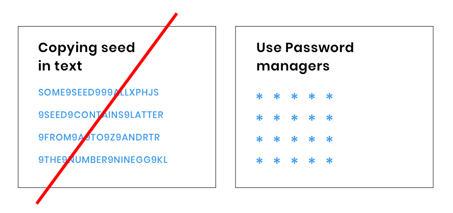 IOTA seed plain text password manager