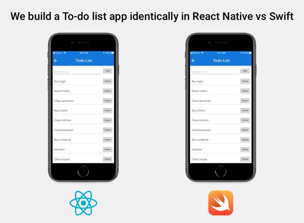 React Native vs Swift - A Side-by-Side Comparison for iOS