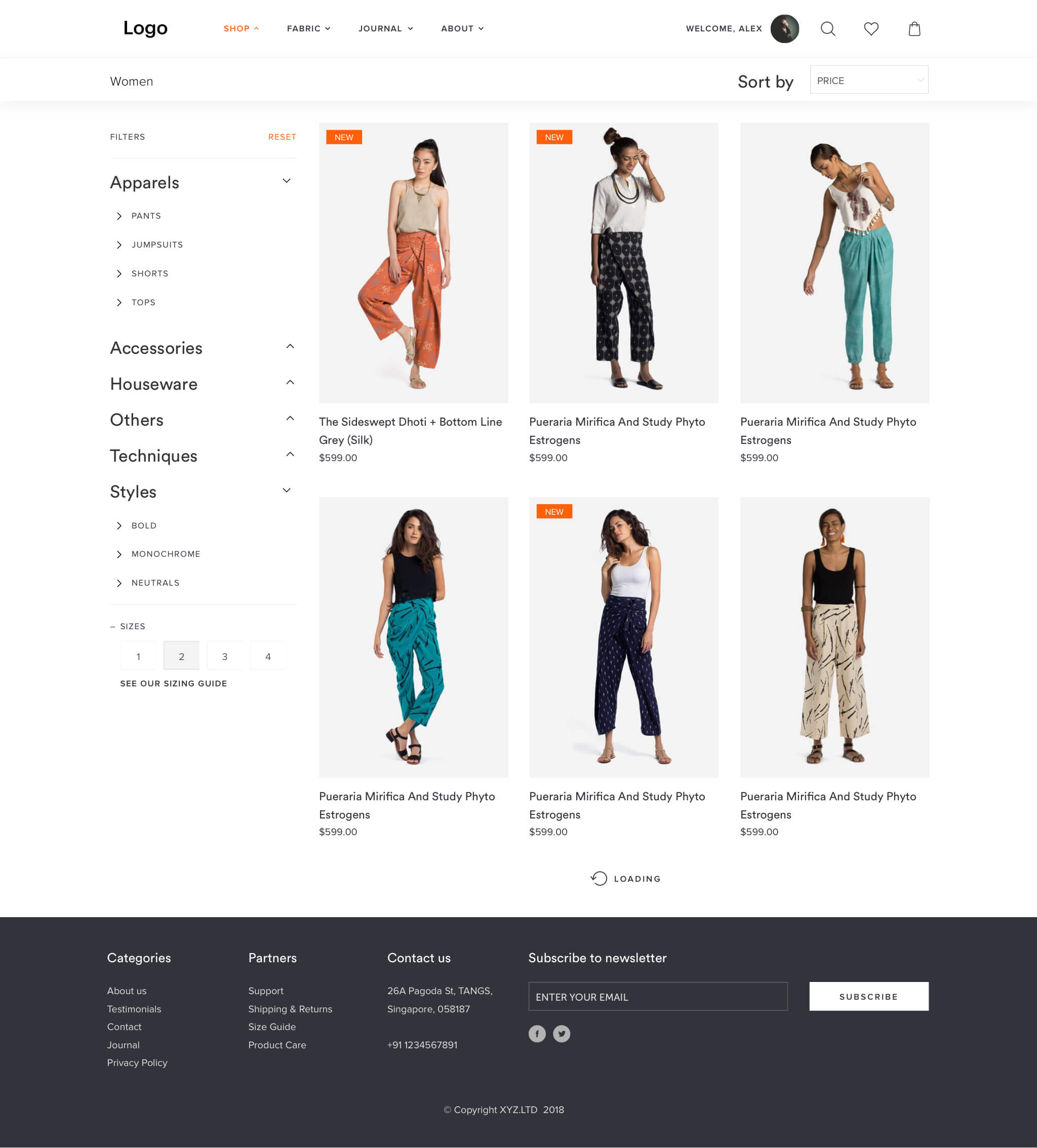 Ecommerce app with React