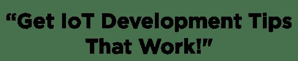 IoT development popup