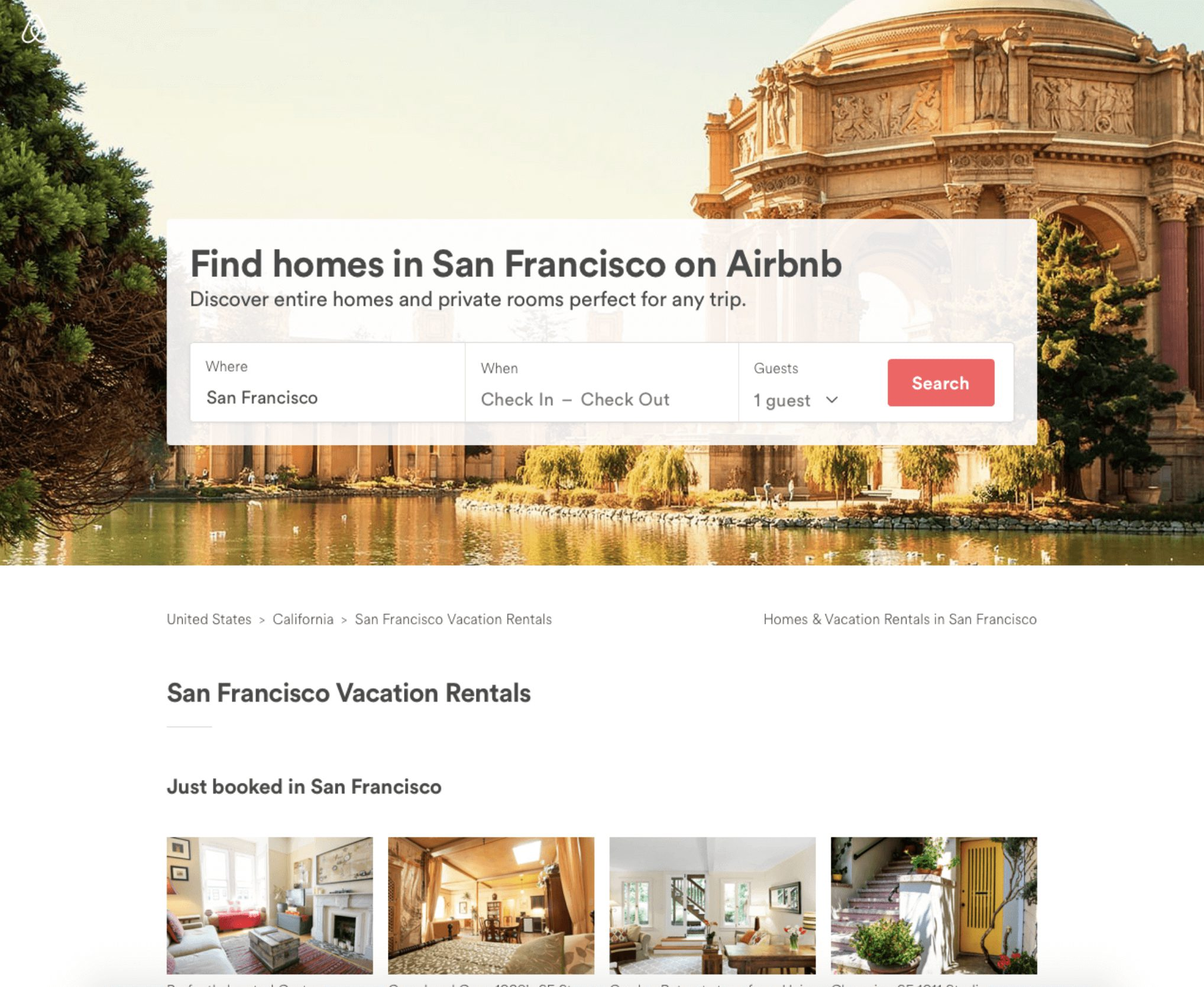 Airbnb search engine