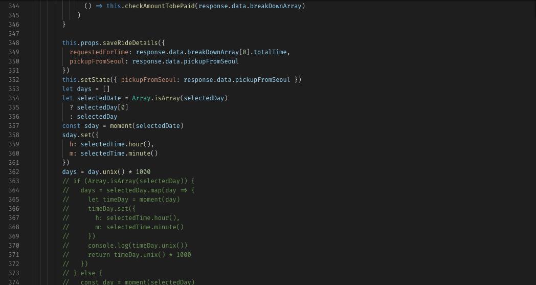 example explaining code quality