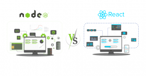 difference between node and react