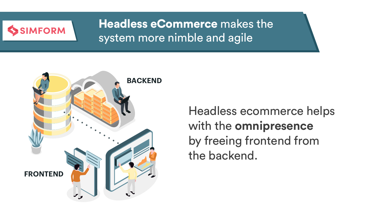 Headless eCommerce makes the system more nimble and agile