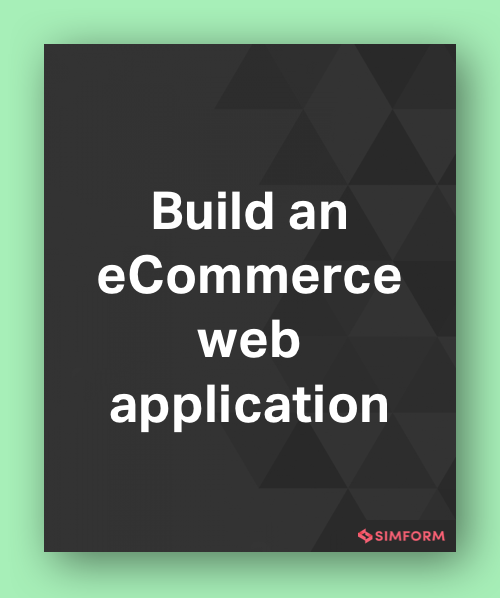 build an eCommerce web application