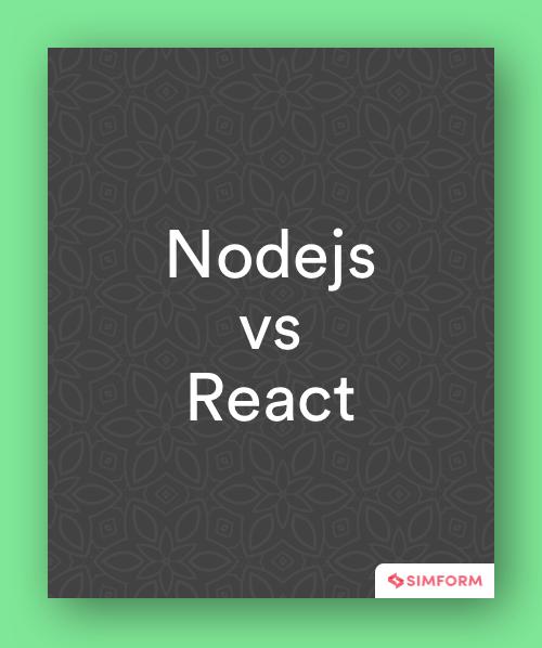 node.js vs react