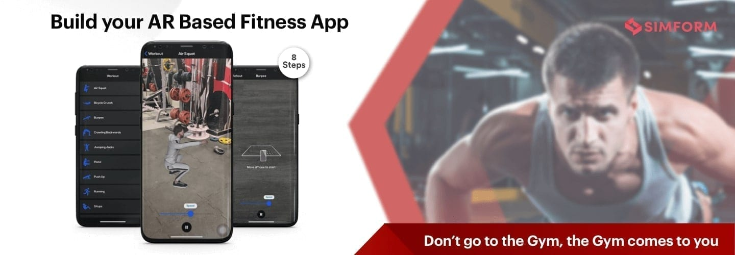 Fitness app using AR