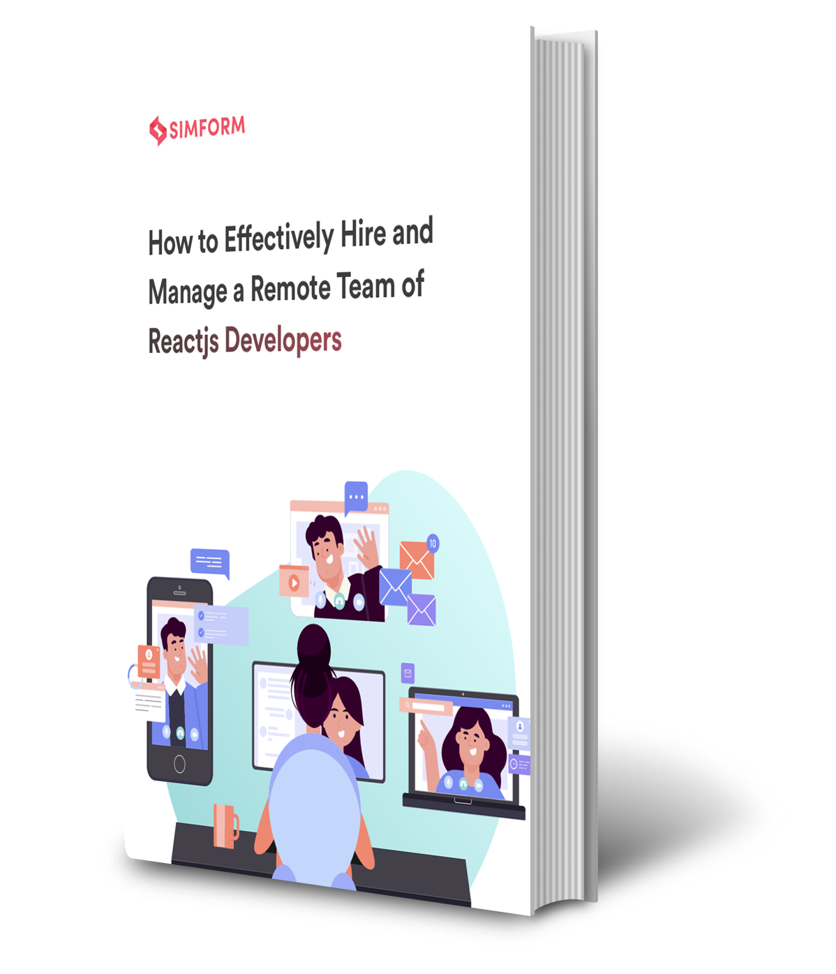 How hire remote reactjs developers Ebook Mockup