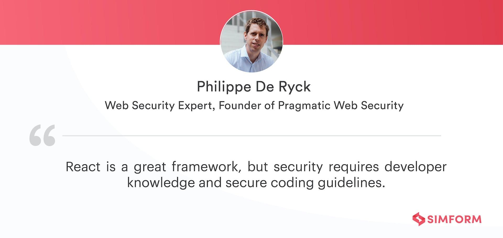 Philippe De Ryck Quote