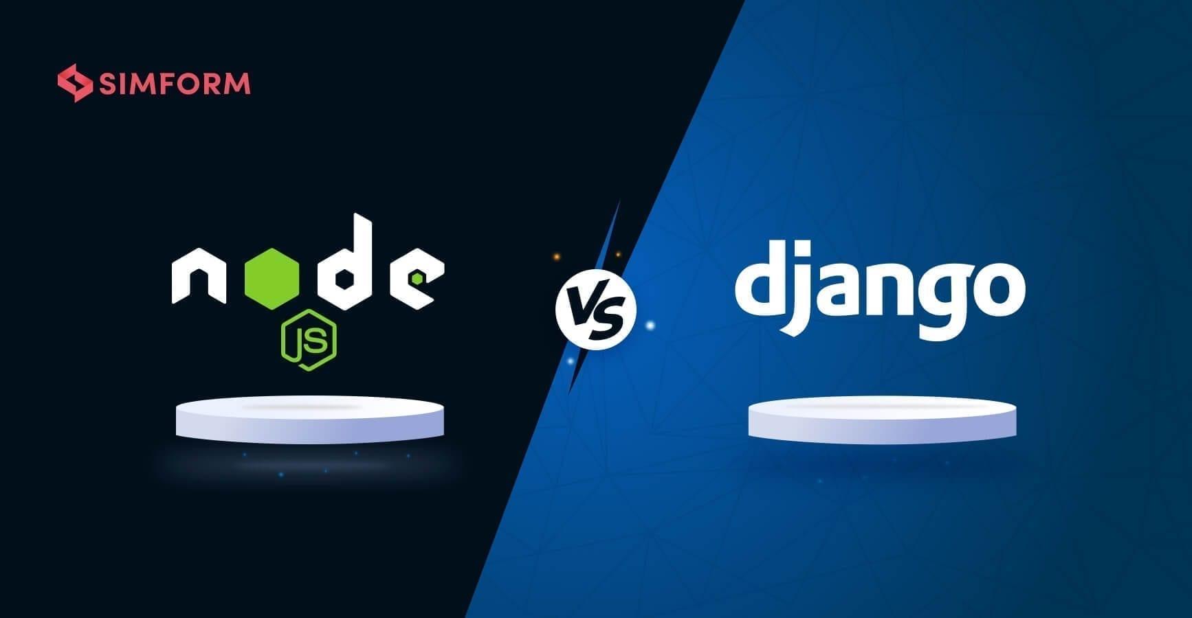 Node.js vs Django banner