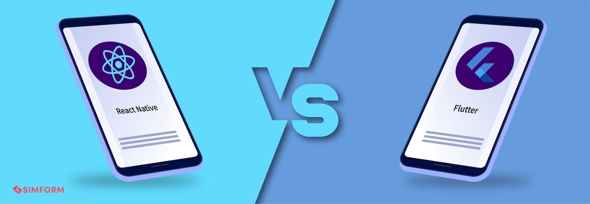 React native vs Flutter Banner Image