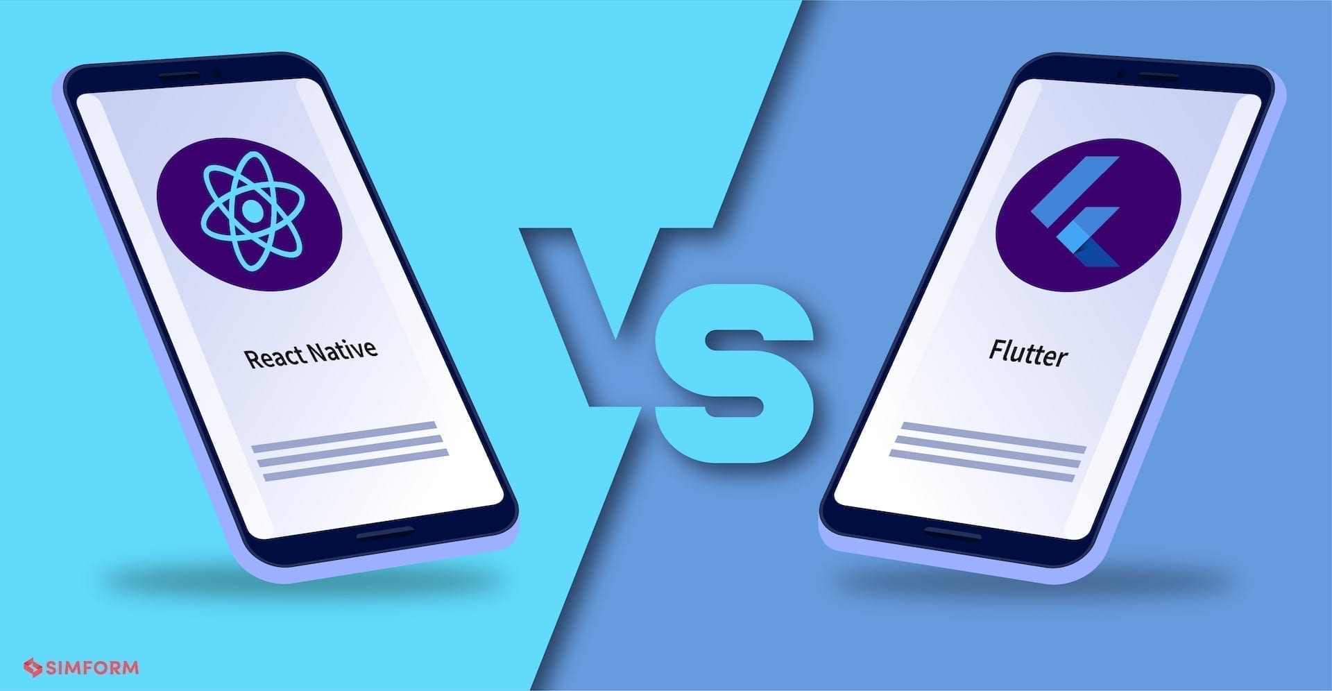 React native vs Flutter Cover Image