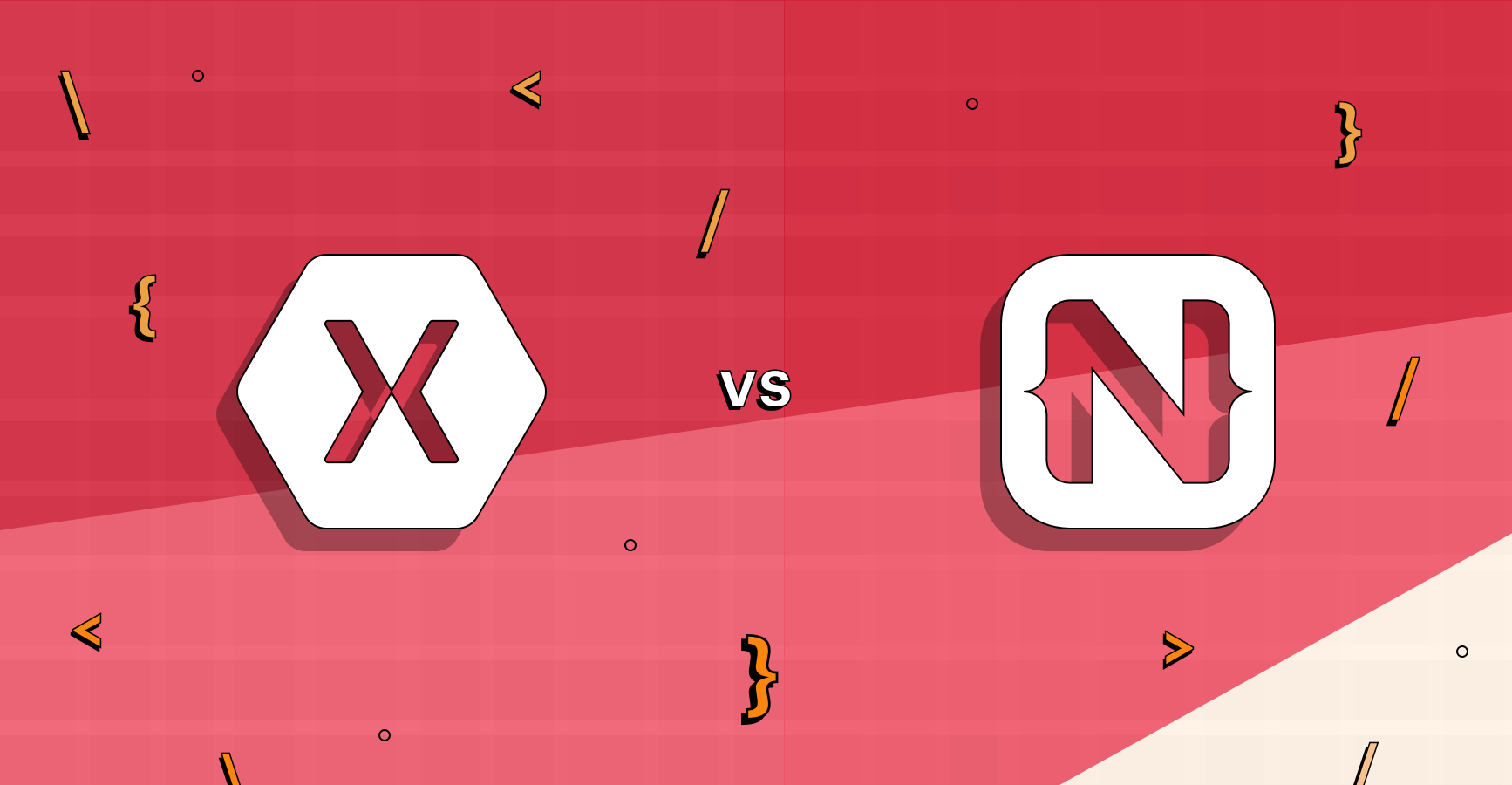 Xamarin vs Nativescript Banner
