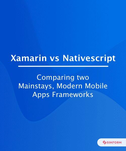xamarin vs nativescript