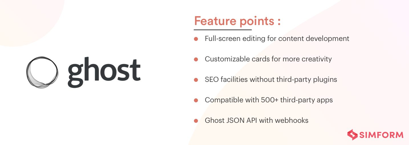 Features of Ghost as a headless CMS
