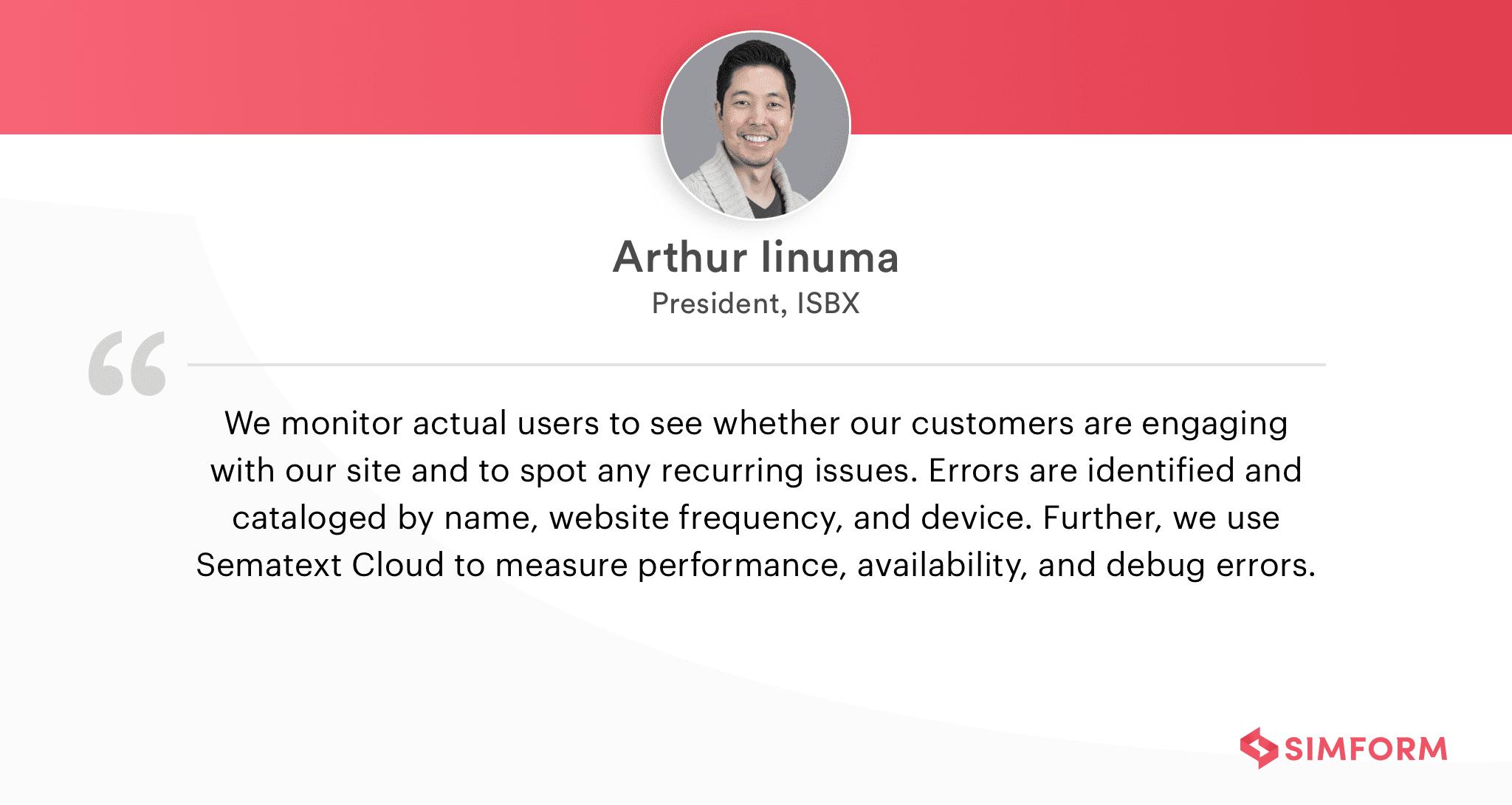 Arthur Iinuma on front-end monitoring