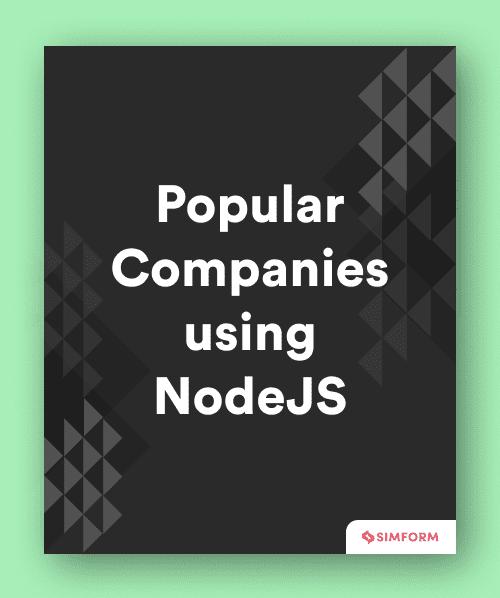 Popular companies using Nodejs