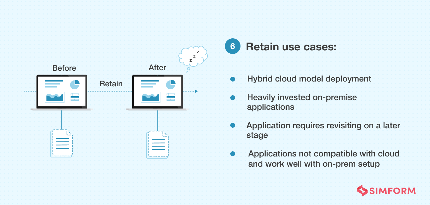 retain cloud migration strategy use cases