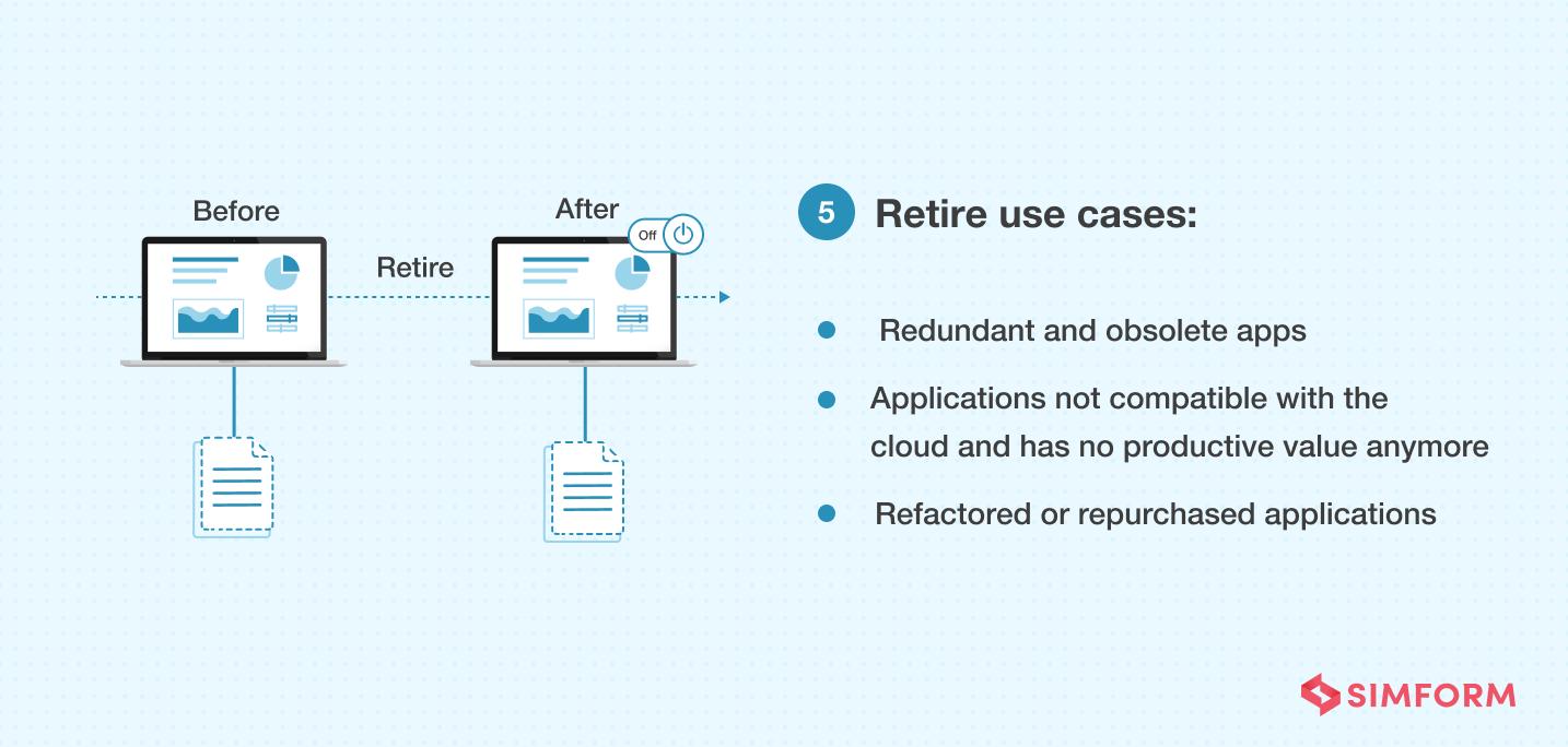 retire cloud migration strategy use cases